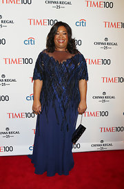Shonda Rhimes looked elegant at the Time 100 Gala when she wore this beaded navy frock.