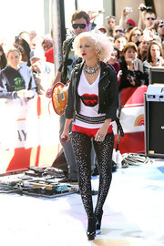Christina rocked crystal covered black tights while performing on the 'Today Show.'