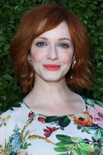 Christina Hendricks Layered Razor Cut