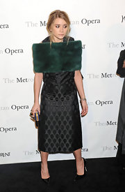 Ashley Olsen sizzled in pointy black leather pumps at the Metropolitan Opera Gala.