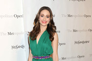 Emmy Rossum Wows in Purple YSL Platform Pumps