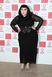 Beth Ditto wore a black chiffon dress for the Sidaction Gala Dinner.