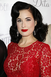 Dita Von Teese's raven waves looked totally old-Hollywood cool while at the Cannes Film Festival.
