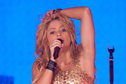 Colombian Pop queen Shakira rocks the crowd at the SECC in Glasgow as part of her 2010 The Sun Comes Out Tour.