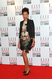 Corinne was a botanical beauty at the Elle Style Awards in a lovely floral print frock.
