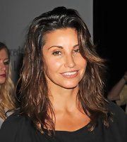 Gina Gershon sported sexy bed hair at the Charlotte Ronson fashion show.