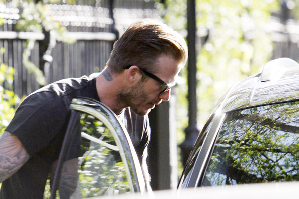 David Beckham Spends the Day With Harper 3