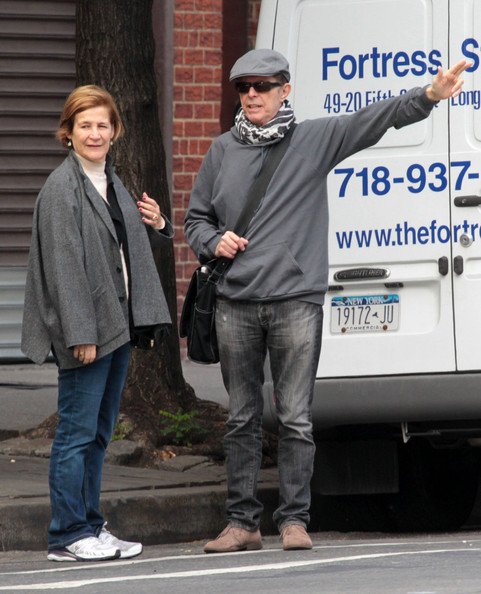 David Bowie seen hailing a cab in New York City