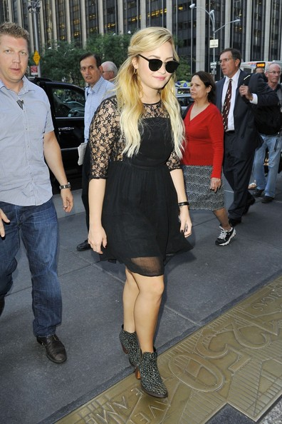 More Pics of Demi Lovato Ankle Boots (5 of 10) - Boots Lookbook - StyleBistro []