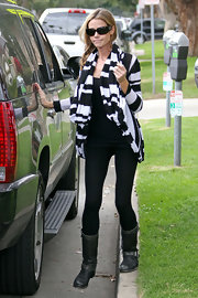 Denise was spotted in Santa Monica wearing this striped open-front cardigan and an all-black outfit.