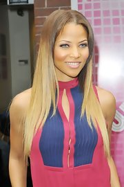 Denise Vasi showed her fans that she can get away with any hairstyle, even an ombre mane.