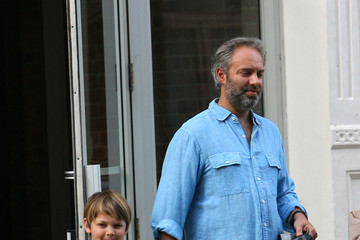 Kate Winslet Sam Mendes Kate Winslet and Sam Mendes Walk the Kids to School