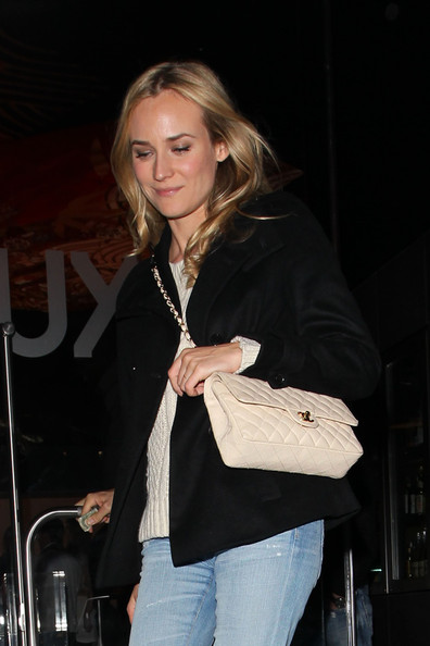 Diane Kruger Quilted Leather