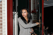 Naya Rivera leaves Little Dom's restaurant after dining with her