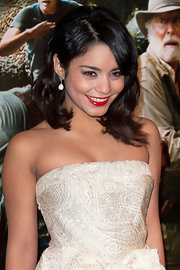 Vanessa Hudgens attended the premiere of 'Journey 2: The Mysterious Island' wearing a pair of Amour Noir earrings.
