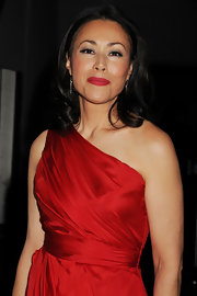 Ann Curry completed her hot look with a swipe of red lipstick at the 2011 Heart Truth fashion show.