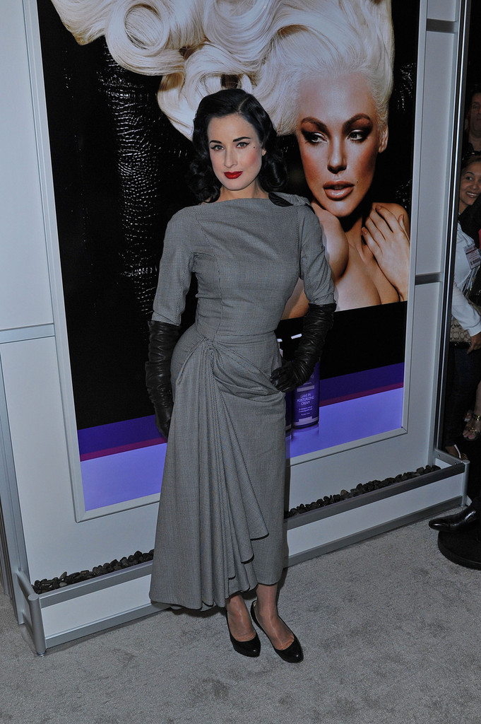 Dita Von Teese Enjoys a Night Out