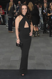 Liv Boeree looked impossibly svelte at the 'World War Z' premiere in a black halter dress with a sultry cutout.