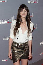 Charlotte Gainsbourg showed off her incredible style at the 38th annual Cesar Film Awards in this directional statement mini-skirt.