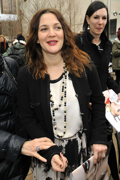 Drew Barrymore at Fashion Week in NYC