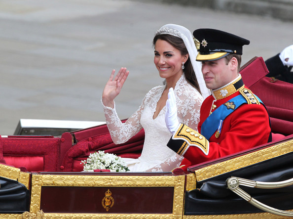 Kate+Middleton in Prince William and Kate Middleton Leave Buckingham Palace 2