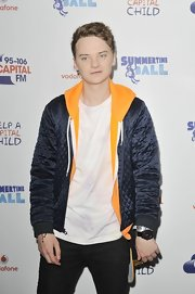 Conor sported a cool blue quilted jacket at the Capital FM Summertime Ball.