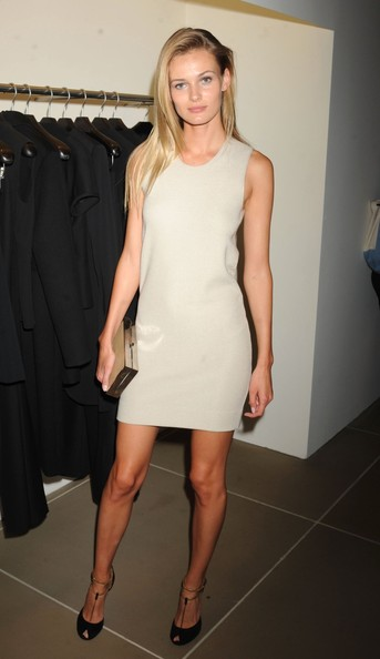 Angela Lindvall attending the Calvin Klein Collection celebrates Fashion's Night Out 2012 in New York
