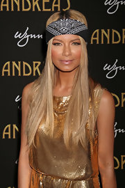 Havana Brown tied a bandana around her head at a restaurant opening party.
