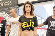 Elisabetta Canalis Crop Top