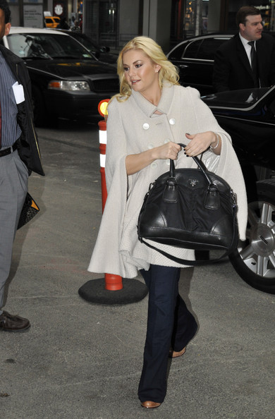 Elisha Cuthbert Leather Bowler Bag