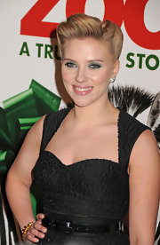 Scarlett Johansson wore her hair in a retro reverse roll updo at the premiere of 'We Bought a Zoo.'