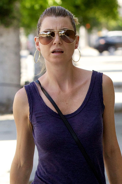 More Pics of Ellen Pompeo Aviator Sunglasses (1 of 14) - Ellen Pompeo Lookbook - StyleBistro