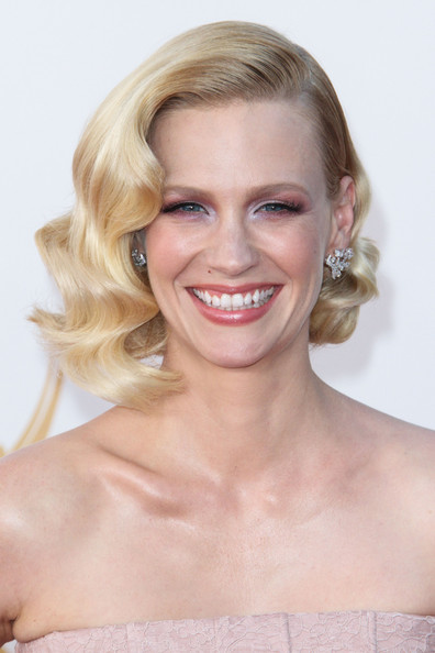 More Pics of January Jones Pink Lipstick (1 of 4) - January Jones Lookbook - StyleBistro