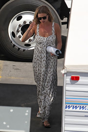 Emily VanCamp's printed maxi was a light and airy look while out in LA.