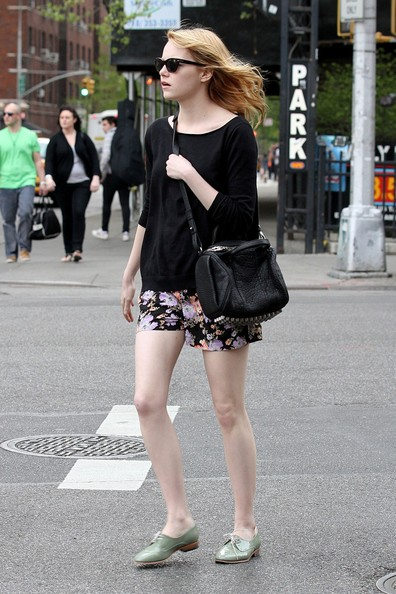 Emma Stone Flat Oxfords