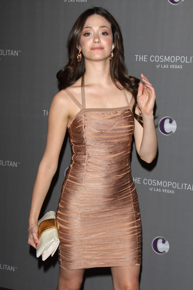 Emmy Rossum Gold Dangle Earrings