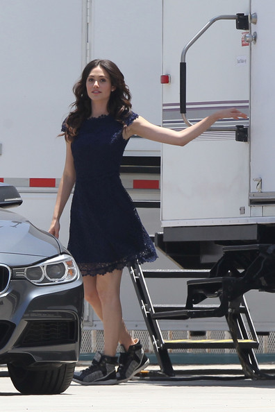 Emmy Rossum Day Dress