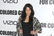 Vanessa Ferlito Wears Gray Suede Pumps