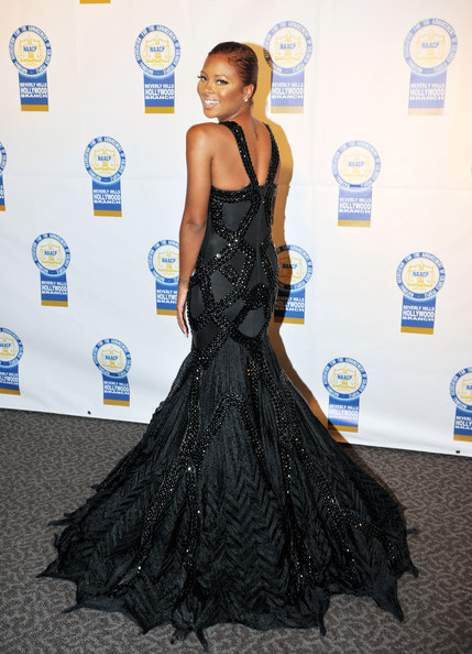 More Pics of Eva Marcille Mermaid Gown (1 of 2) - Eva Marcille Lookbook - StyleBistro