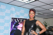 Fantasia Barrino Leather Dress