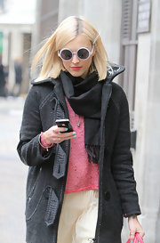 Fearne Cotton wore pretty aqua nail polish while out in London.