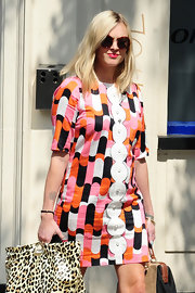 Fearne Cotton isn't afraid of a statement print like the one on this '60s shift dress.