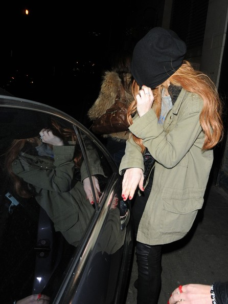 More Pics of Lindsay Lohan Knee High Boots (1 of 11) - Lindsay Lohan Lookbook - StyleBistro