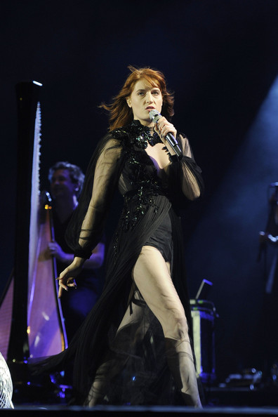 Florence Welch rocks the crowd as she performs live in concert at the o2 Arena in London