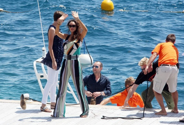 Boris Becker and Lilly Arrive on a Boat