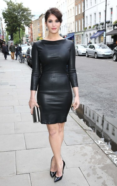 Gemma Arterton Leather Dress