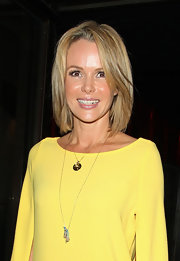 Amanda Holden layered pendants at the ITV Summer Party in London.