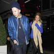 Millie Mackintosh and Professor Green Outside Beaufort House