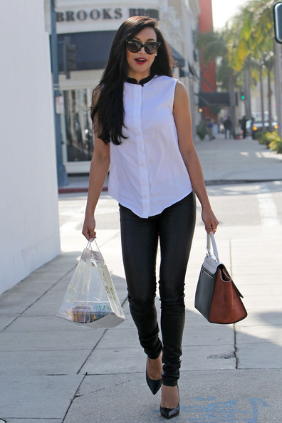 More Pics of Naya Rivera Leather Pants (1 of 19) - Leather Pants Lookbook - StyleBistro