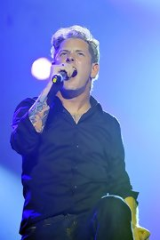 Corey Taylor's black button-down was a dapper choice for the Marshall 50 Years of Loud event.